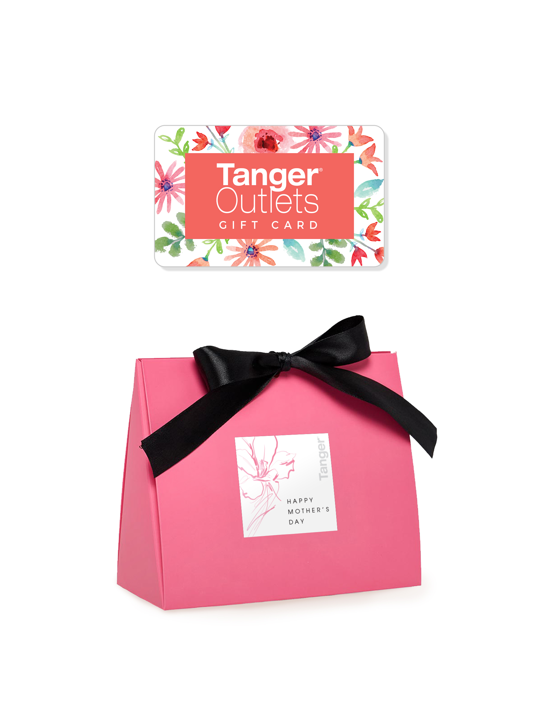 $50 Tanger Outlets Gift Card & Packaging